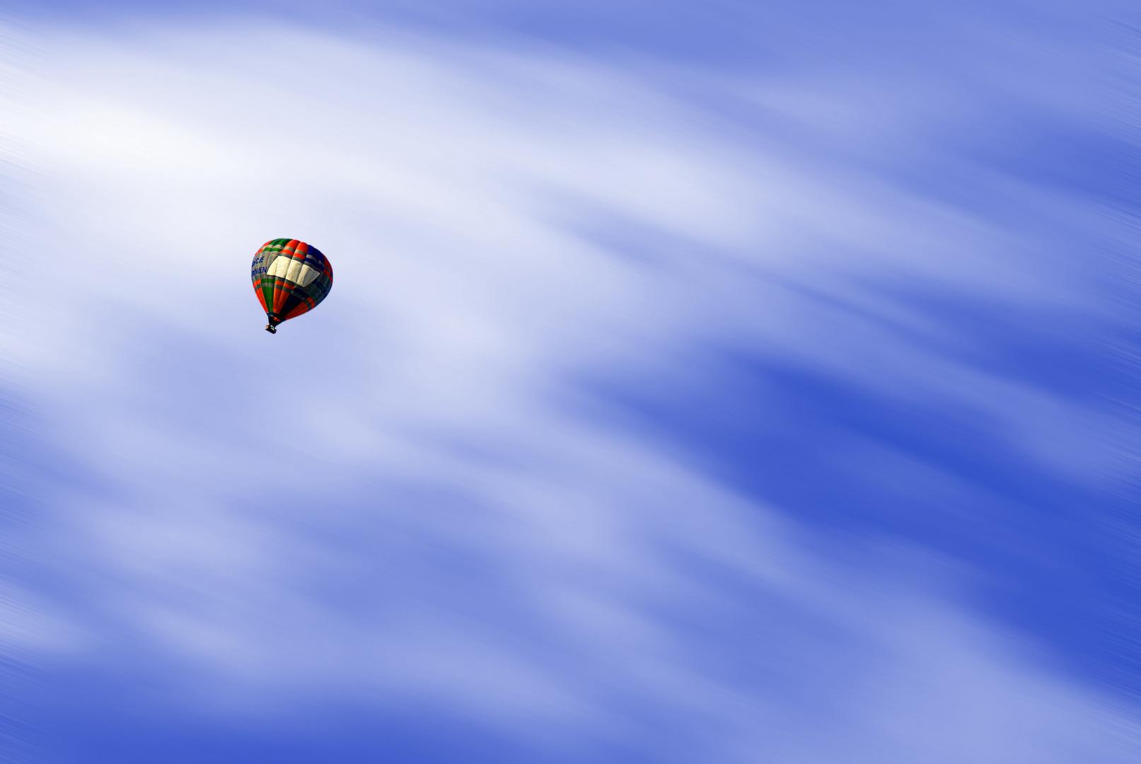 Ballon in bewegung