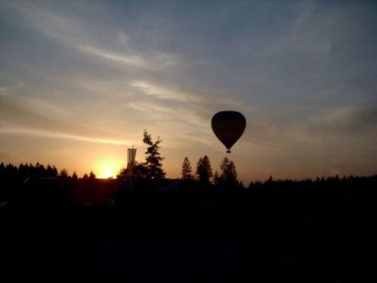 Ballon in Sonnenuntergang