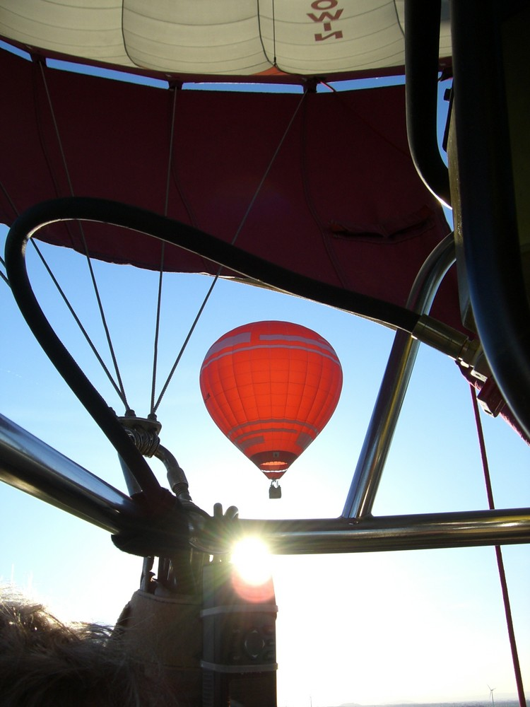 Ballonfahren ist geil . . .