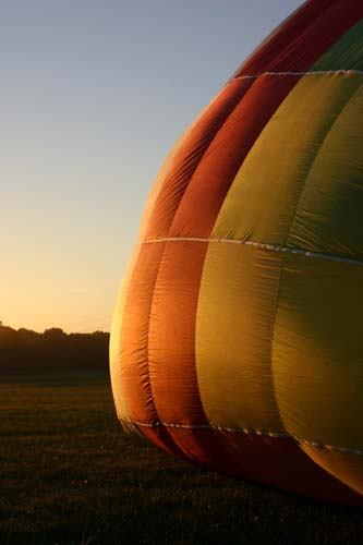 Ballonfahrt morgens um 7