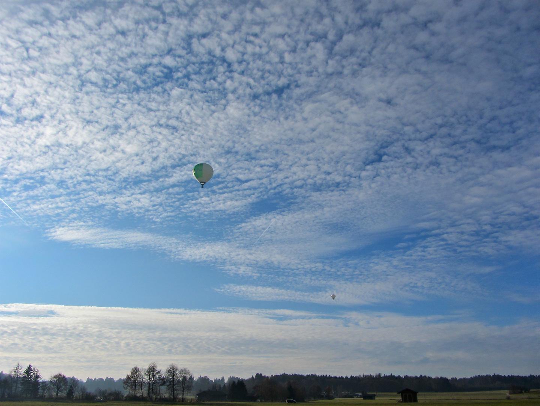 Ballonfahrt über Bayern