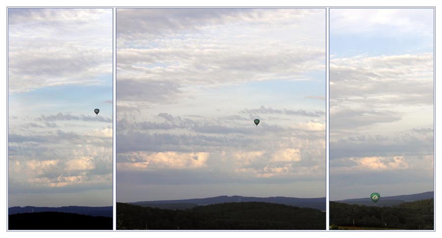 Ballonfahrt  über dem Taunus  an einem Sommerabend