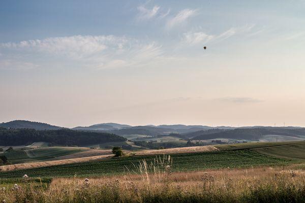 Ballonfahrt über'm Odenwald