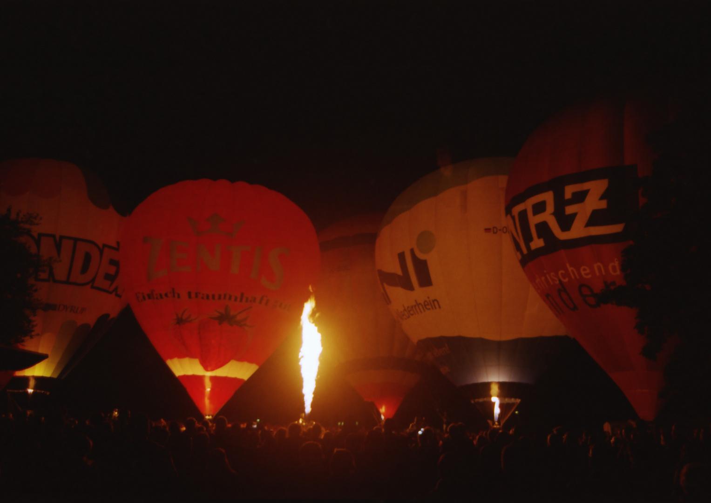 Ballonfestival Moers 2012 Ballonglühen 2