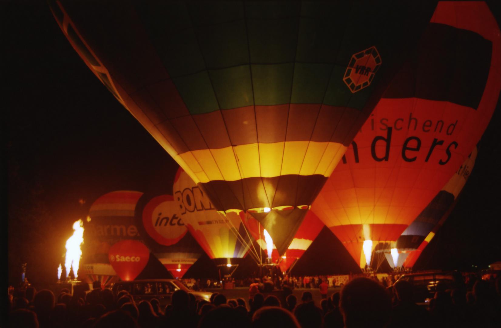Ballonfestival Moers 2012 Ballonglühen