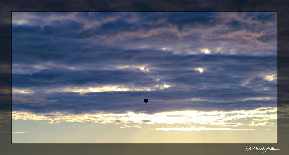 Ballonflug am Morgen
