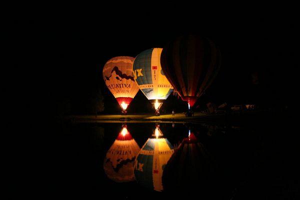Ballonglühen am Lac de Madine