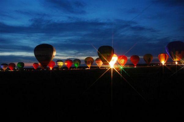 Ballonglühen in Wels