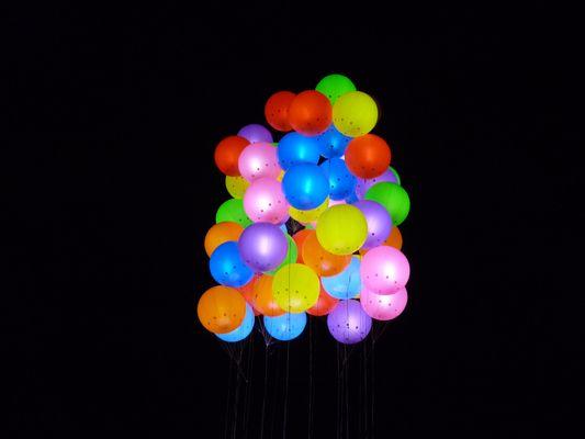 Ballons illuminés