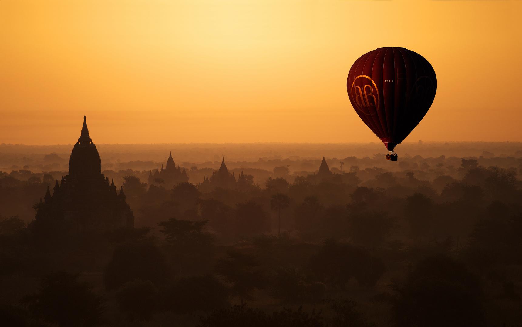 Balloon Over Bagan, Myanmar 2012