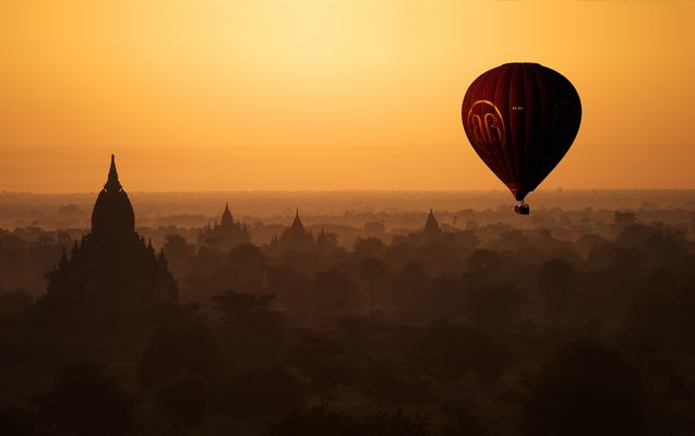 Balloon Over Bagan, Myanmar 2012