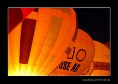 Balloon Sail Kiel bei Nacht