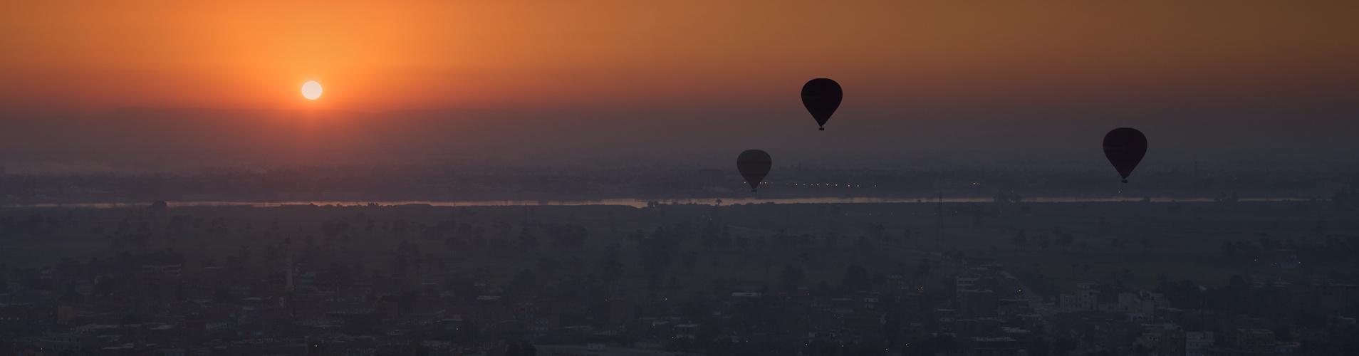 Balloons over Luxor 03, Egypt 2011