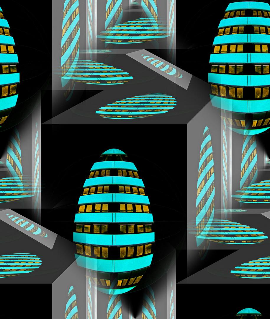 Ballspiele II (living in eggs)