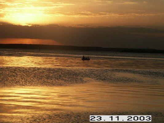 Balsero im Sonnenuntergang