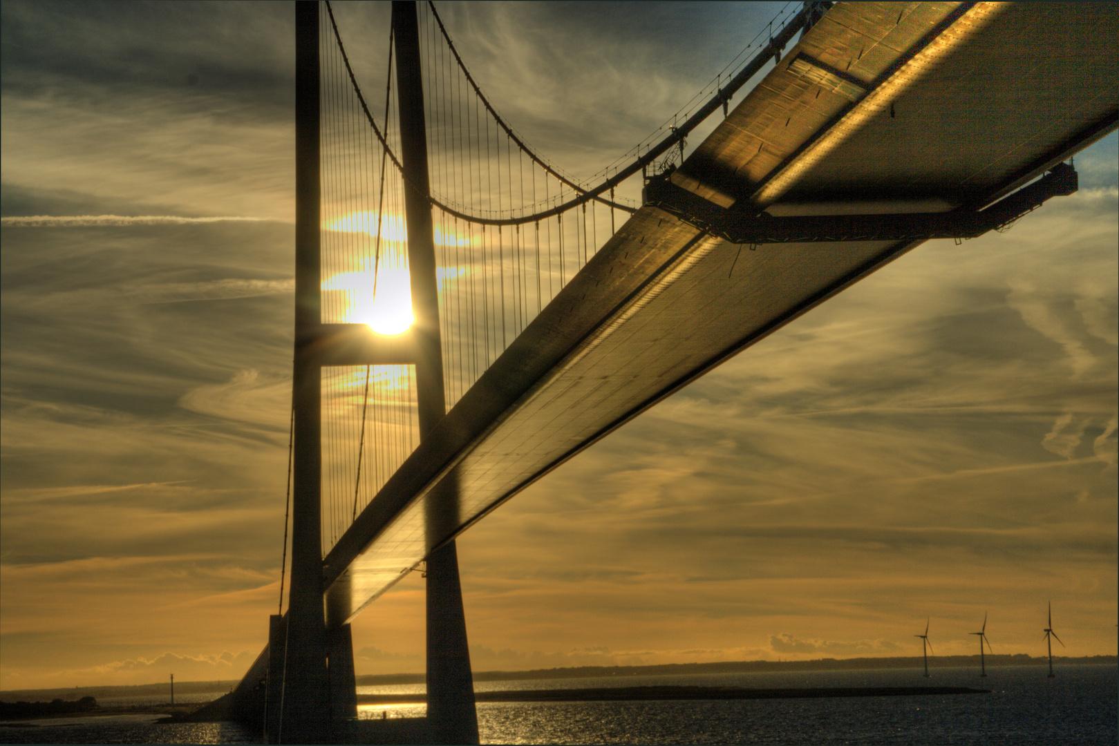 Baltic Sea Sunset Bridge