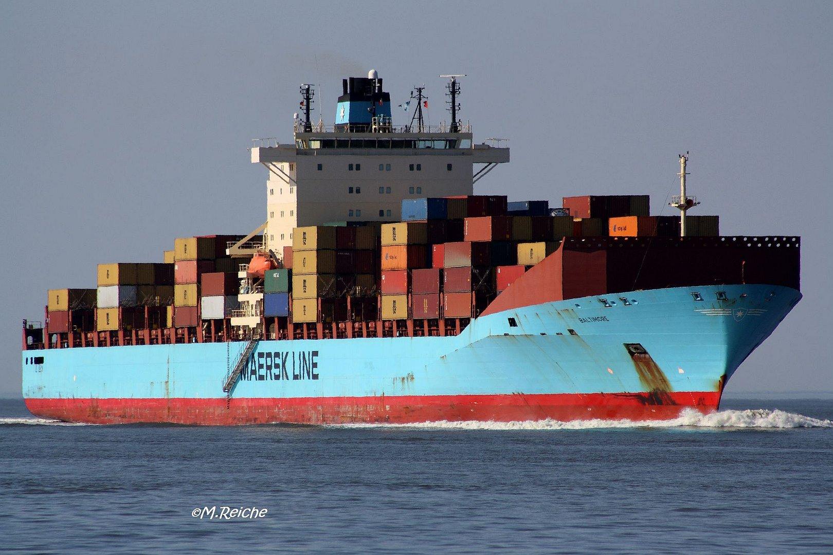 Baltimore-schnellstes Containerschiff der Welt