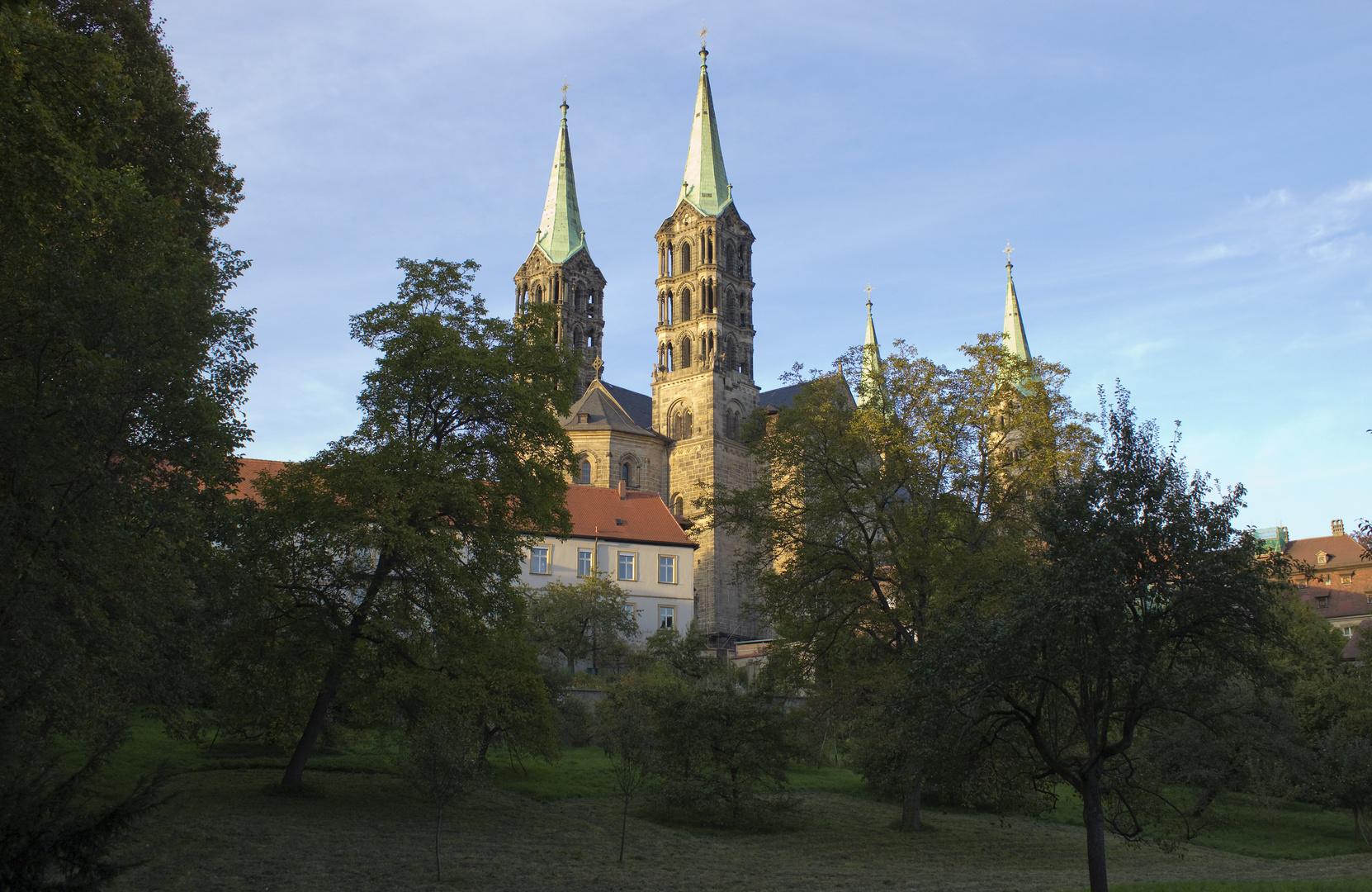 Bamberg am Abend (und von hinten)