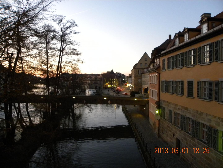 Bamberg bei Dämmerung