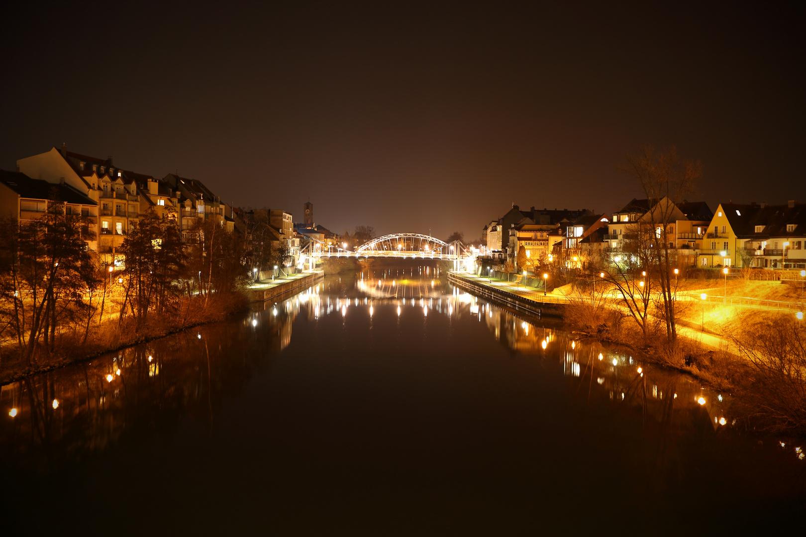 Bamberg bei Nacht - Kettenbrücke