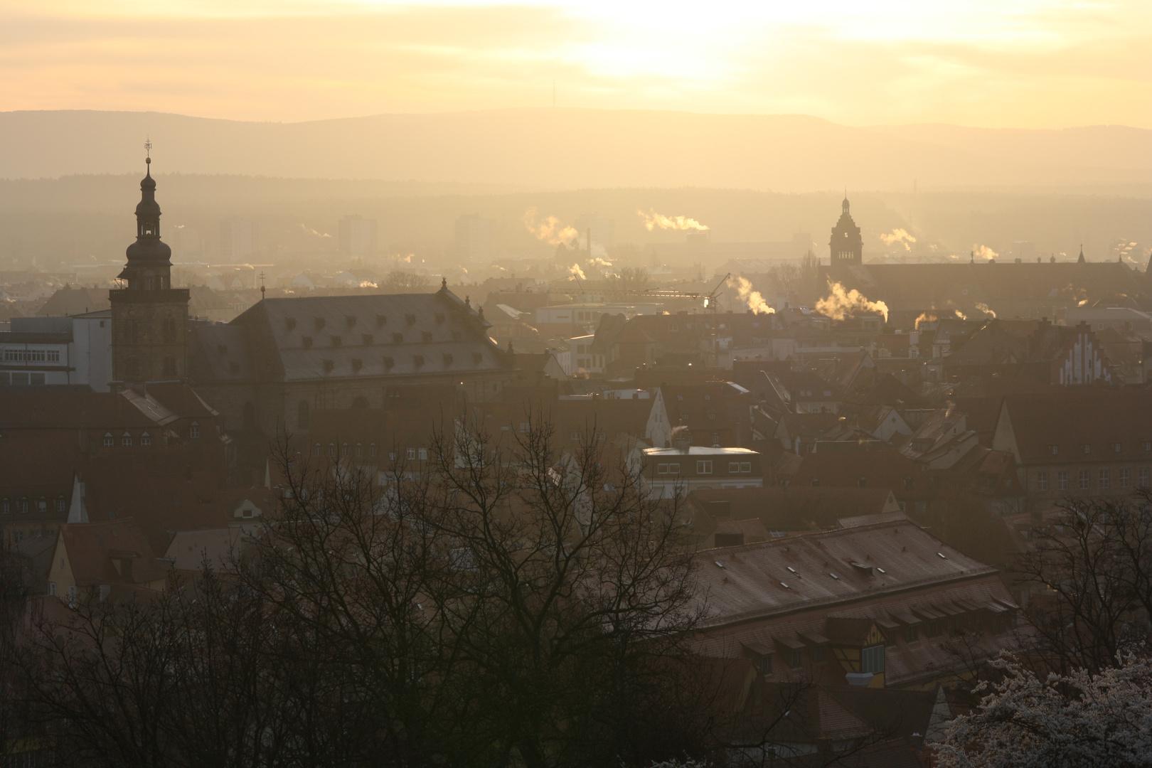 Bamberg im Morgengrauen