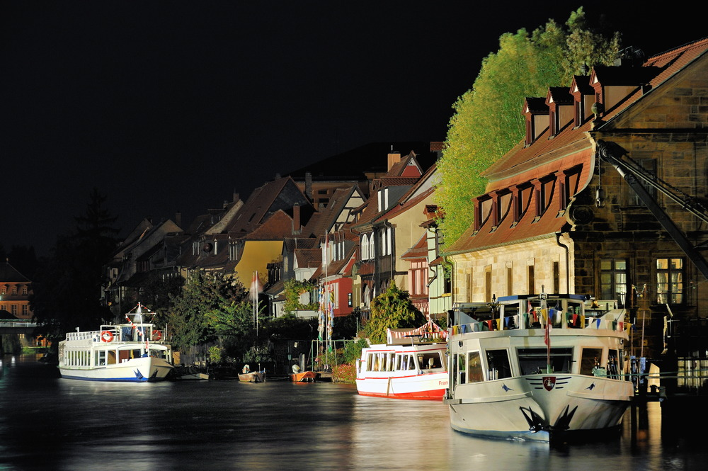 Bamberg - Little Venice at night
