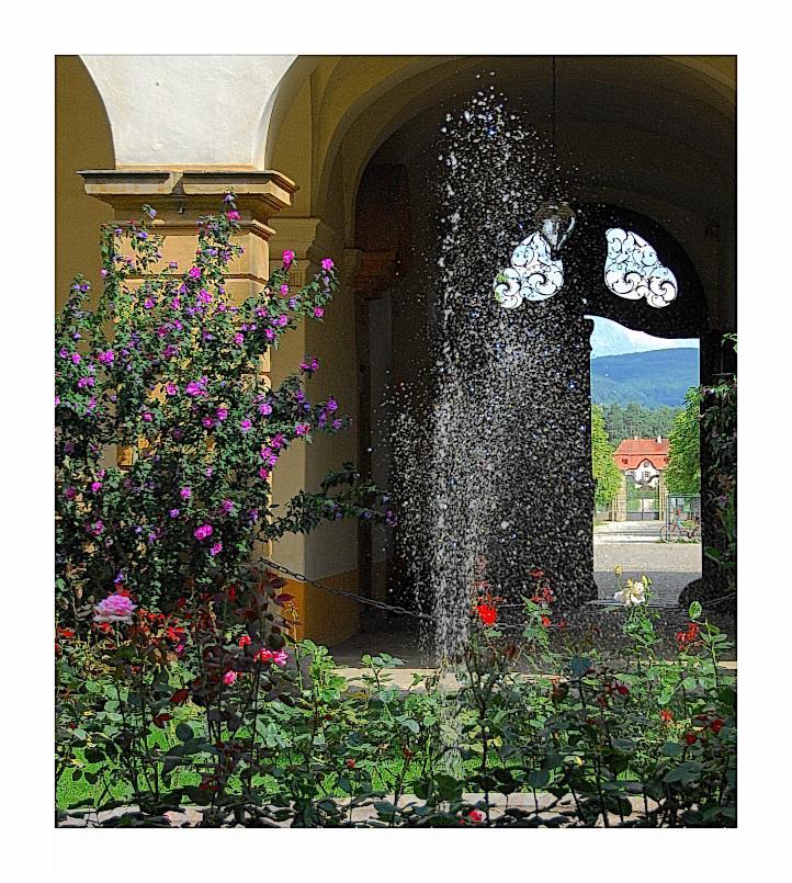 Bamberger Ansichten (25):  Springbrunnenidylle