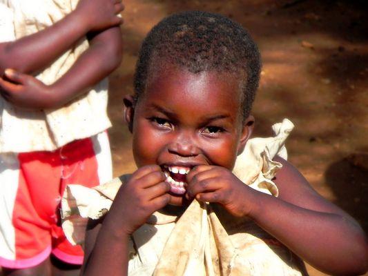 Bambina a Malindi, Kenya
