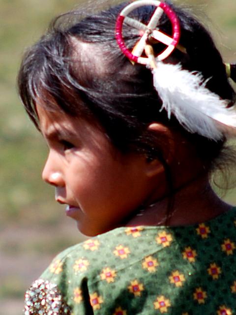 Bambina Nativa Lakota Sioux