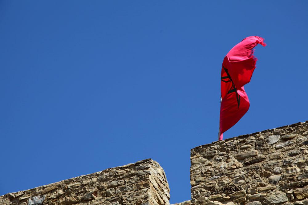 Bandera de Asilah, Marruecos.