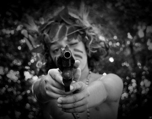 Bang bang, he shot me down.