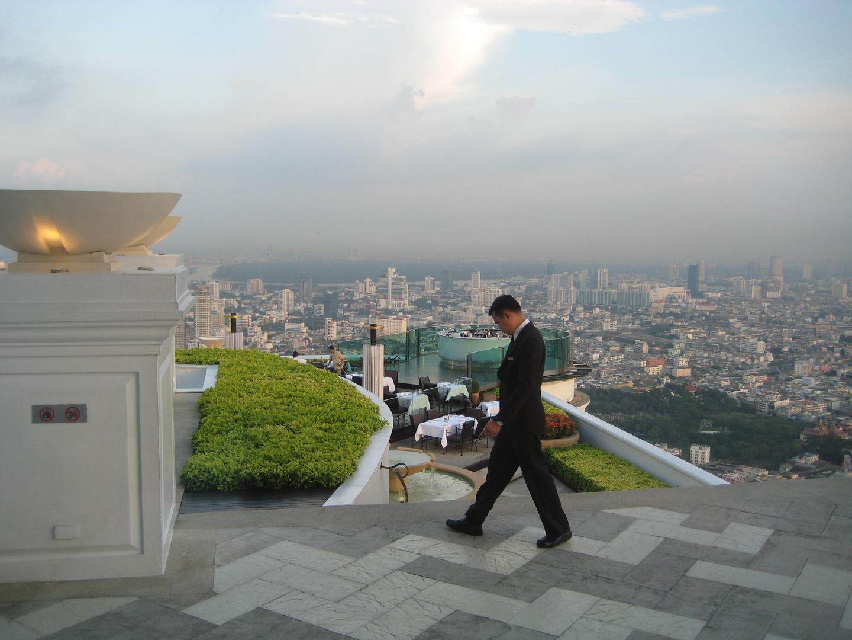 Bangkok, Das Sirocco Restaurant (Skybar) im 5 Sterne Lebua Hotel at State Tower