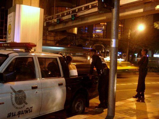 Bangkok: Polizeirazzia