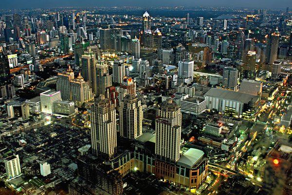 Bangkok Skyline Blick vom Baiyoke Tower II (304 Meter)
