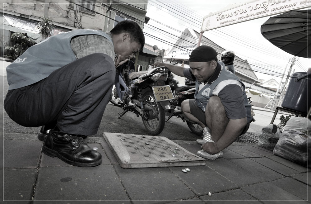 Bangkok streetlife-game