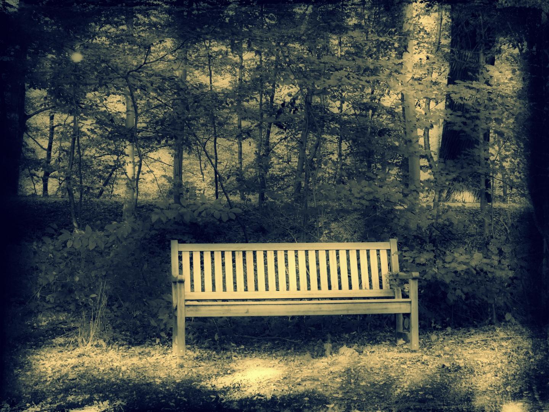 """Bank im Park - """"Setz dich zu mir und erhol Dich!"""""""