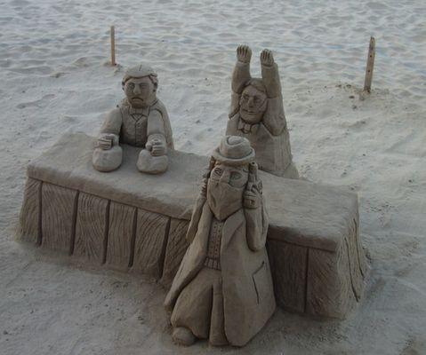 Bankraub am Strand