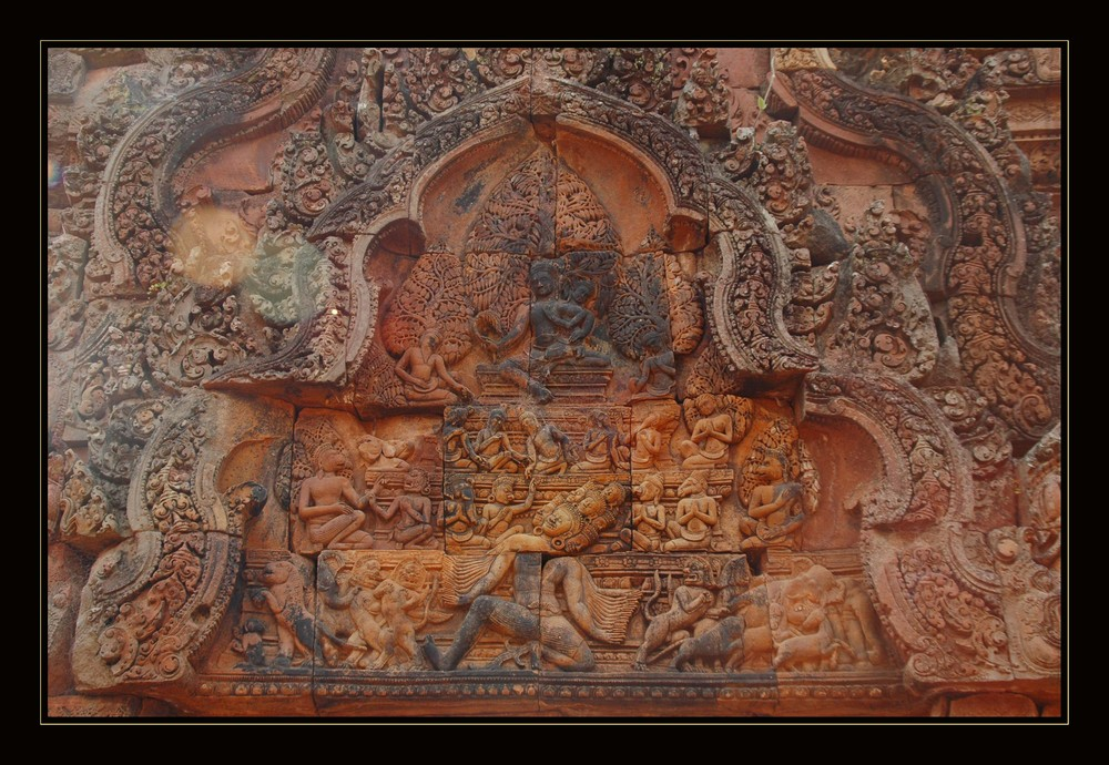 Banteay Srei - Flachrelief