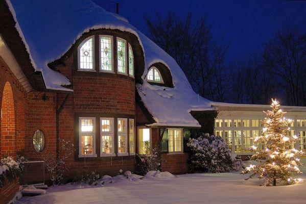 Barca-Haus im Schnee