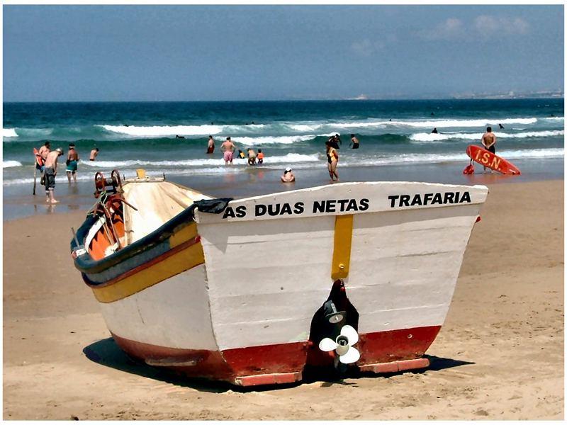 Barca sulla  sabbia    Portogallo