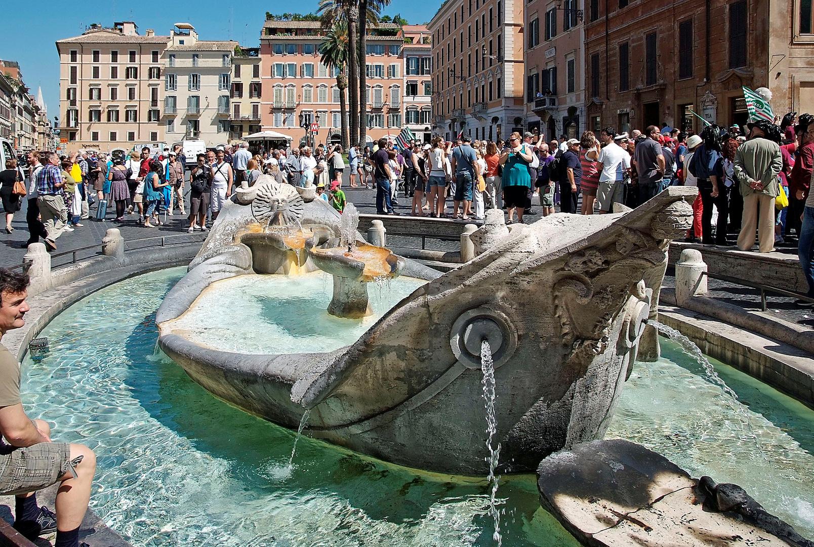 Barcaccia - Brunnen ..........