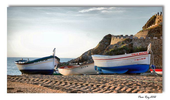 Barcas en Tossa