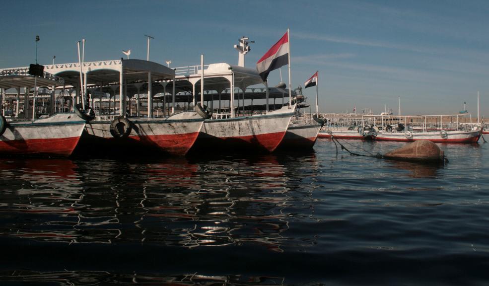 barcas sobre el nilo