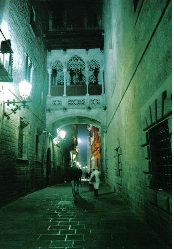 Barcelona - Altstadt bei Nacht