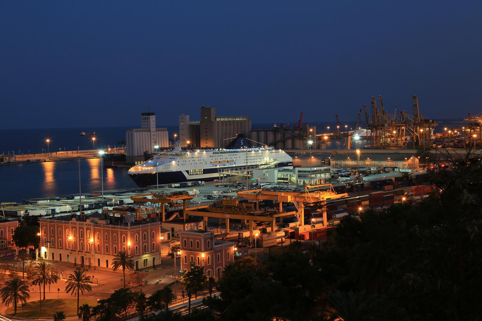Barcelona Hafen Nacht 1
