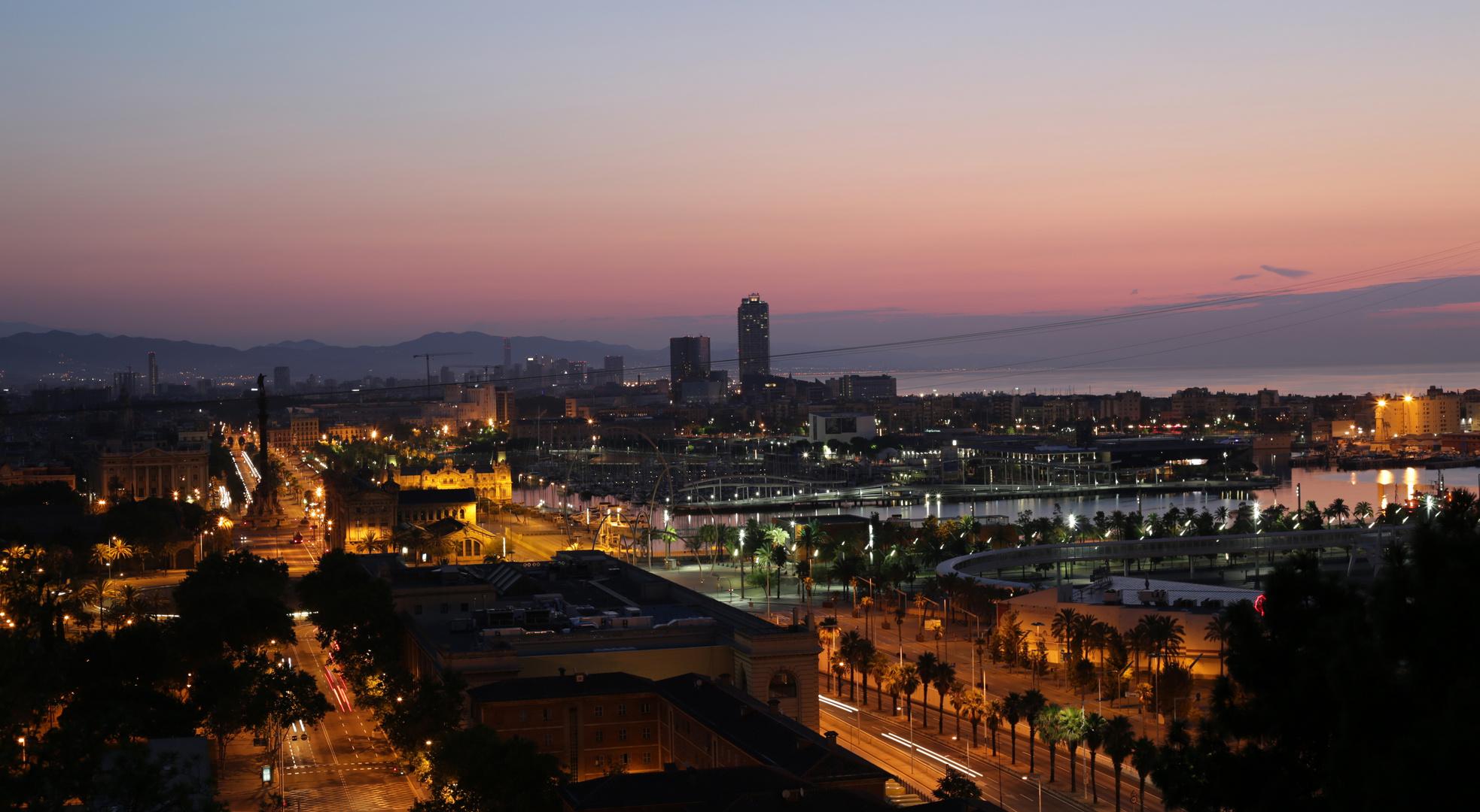 Barcelona Morgendämmerung 3