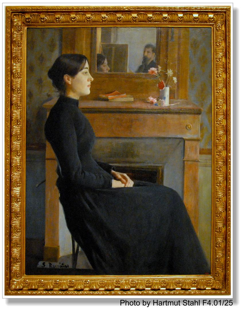 Barcelona, Pintura de Santiago de Rusiñol (Gemälde von S. Rusiñol)