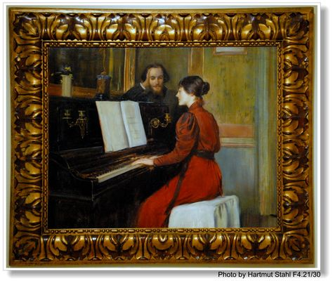 Barcelona, Pintura de Santiago Rusiñol (en Palau Nacional) (Gemälde von Rusiñol)