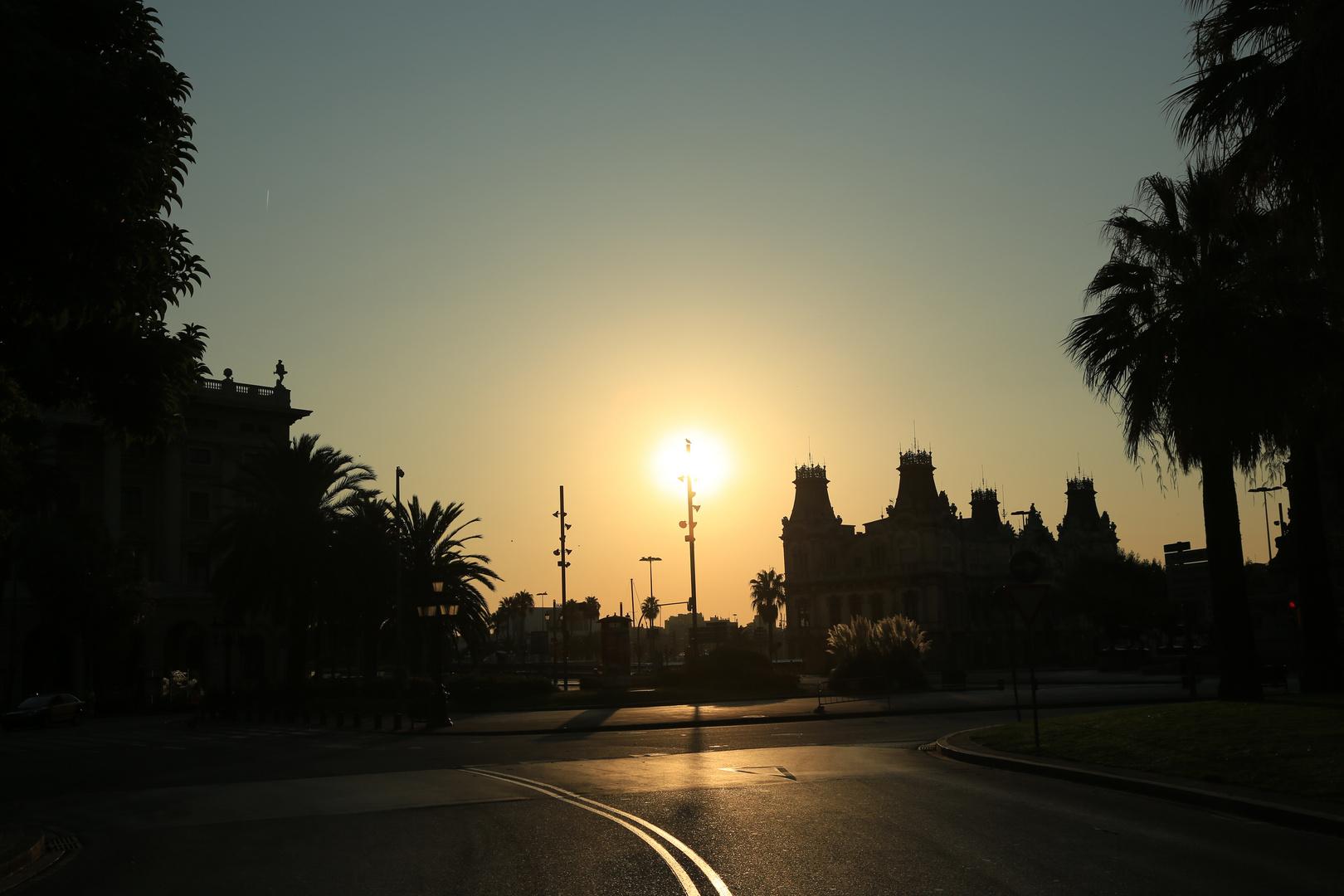Barcelona Sonnenaufgang 1
