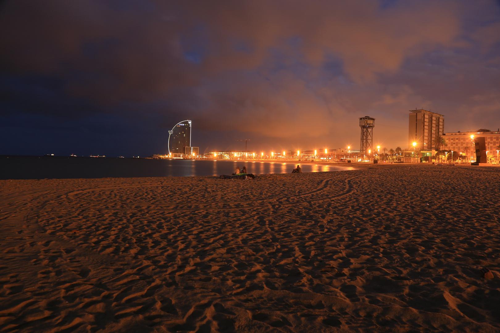 Barcelona Strand Morgendämmerung 2